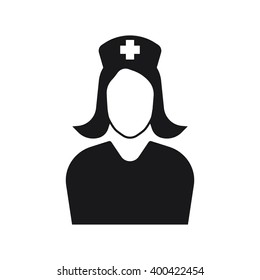 Nurse icon Vector Illustration on the white background.