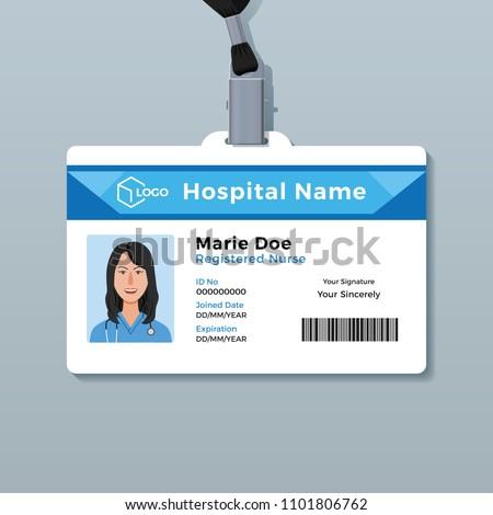 Nurse ID Card Medical Identity Badge Template
