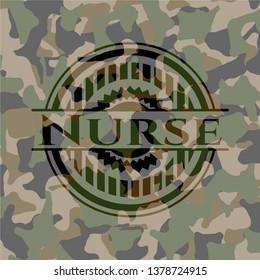 Nurse on camo pattern