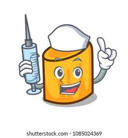 Nurse rigatoni character cartoon style
