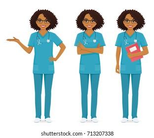 Nurse set black