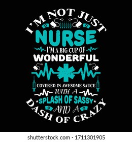 Nurse t shirts design,Vector graphic, typographic poster or t-shirt