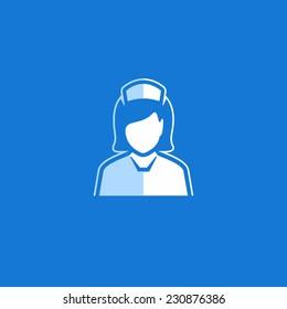 Nurse Vector Avatar Flat Icon