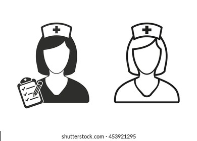 Nurse vector icon. Illustration isolated on white background for graphic and web design.