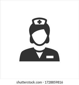 Nurse vector icon on white background