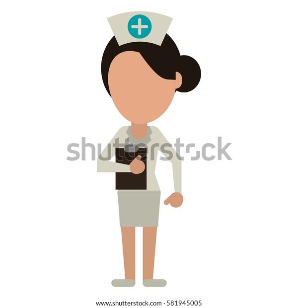 nurse work hospital clipboard