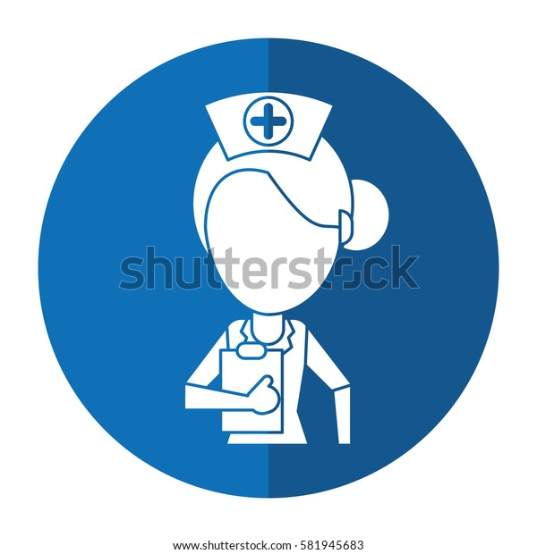 nurse work hospital clipboard shadow