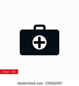 Nursing Bag icon, flat design best vector icon