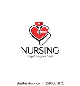Nursing health care professional logo template for your business