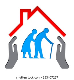 home care elderly stock illustrations images vectors shutterstock rh shutterstock com elderly care clipart Home Care Clip Art