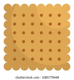 Nut biscuit icon. Flat illustration of nut biscuit vector icon for web