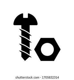Nut bolt icon vector isolated template