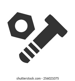 Nut and Bolt vector image to be used in web applications, mobile applications and print media.