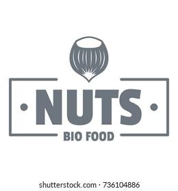 Nut food logo. Vintage illustration of nut food vector logo for web