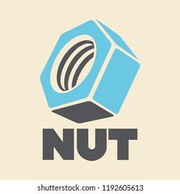 Nut logo. Vector illustration.
