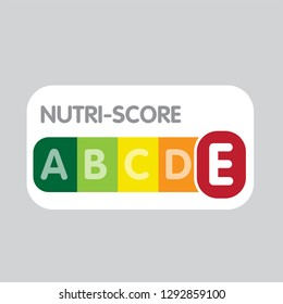 Nutri-Score system in France. Sign health care for packaging