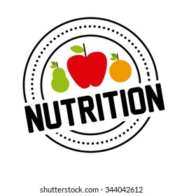nutrition concept design, vector illustration eps10 graphic