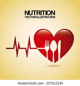 nutrition design over cream background vector illustration
