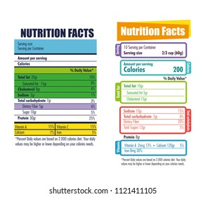 nutrition facts infographic icon