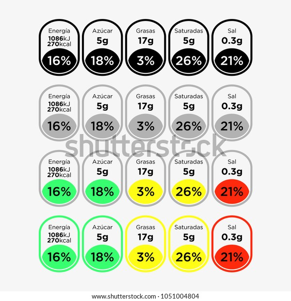 Nutrition Facts Information Label Template Daily Stock