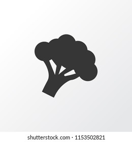 Nutrition icon symbol. Premium quality isolated broccoli element in trendy style.