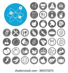 Nutrition icons set. Illustration EPS10
