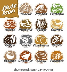 Nuts icon set