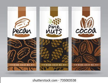 Nuts packaging set 3