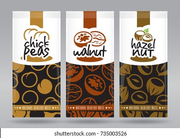 Nuts packaging set 4