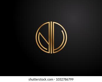 NV circle shape gold color design