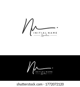 NV Initial letter handwriting and signature logo.