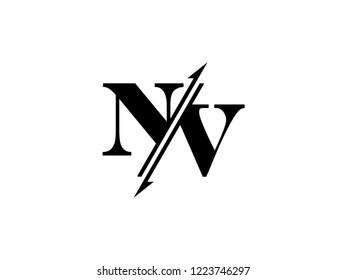 NV initials logo sliced
