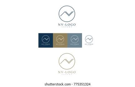 NV luxurious logo
