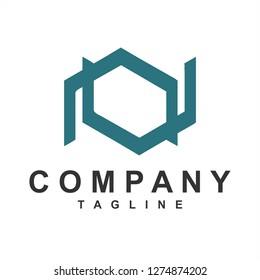 NV, VN, AV, VA initials simple geometric company logo