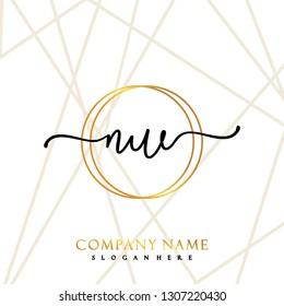 NW Initial Handwriting logo template vector