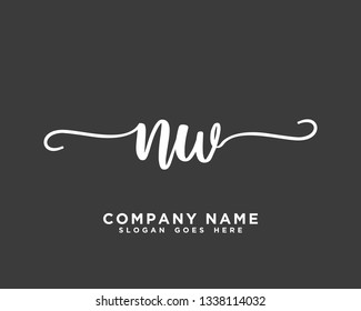 NW Initial Handwriting Logo Vector