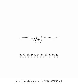 NW Initial luxury handwriting logo vector