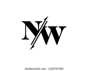 NW initials logo sliced