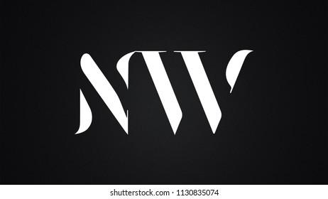 NW Letter  logo Design Template Vector