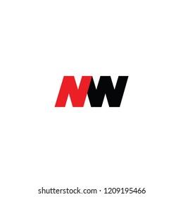 nw letter logo. mw letter logo