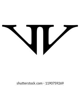 nw letter vector logo. vv letter vector logo