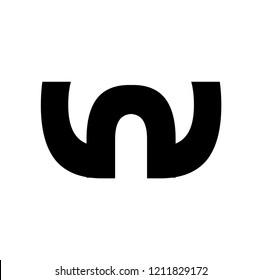 nw letter vector logo. wn letter vector logo
