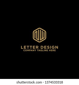 NW letters Initial icons / Monogram.- Vector inspiration logo design - Vector