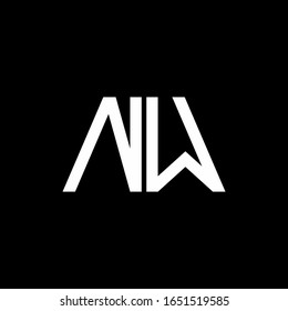 NW logo abstract monogram isolated on black background
