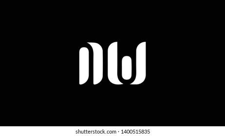 NW logo design template vector illustration minimal design
