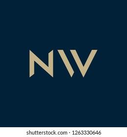 NW logo. Vector illustration.