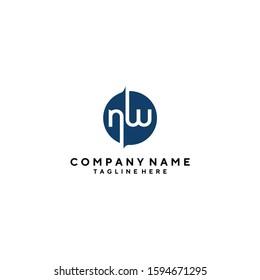 NW logo vector,WN letter logo