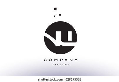 NW N W alphabet company letter logo design vector icon template simple black white circle dot dots creative abstract