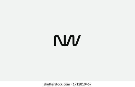 NW or WN letter logo. Unique attractive creative modern initial NW WN N W initial based letter icon logo