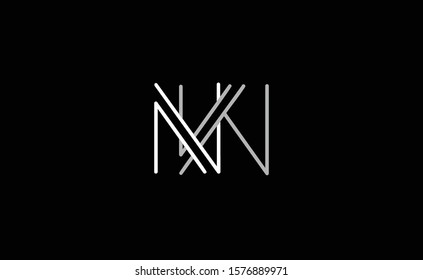 NW ,WN ,N ,W letter Logo Design Template Vector